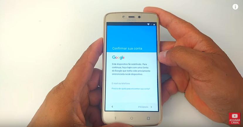 Desbloqueio Google Lenovo Moto C Plus XT1726, Android 7.0/ 7.1/8.0/8.1 2017