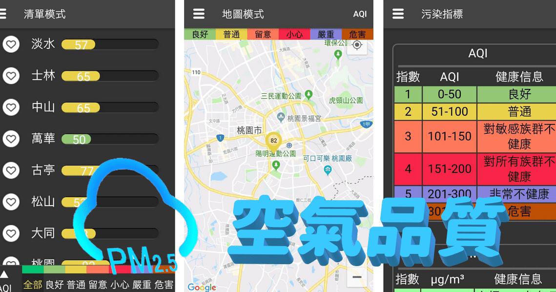 空氣品質PM2.5 APP 介面簡易直觀,方便查看即時空汙指數 - 逍遙の窩