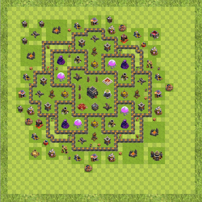 War Base Town Hall Level 9 By Brian J Sorrell (Future TH 9 Layout)