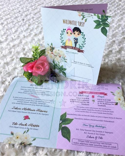 Contoh undangan pernikahan softcover zahwa dan edo