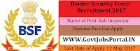 Border Security Force Recruitment 2017– Sub Inspector (Works)