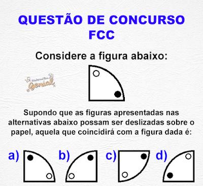 Questão de Concurso da FCC: Considere a figura abaixo...