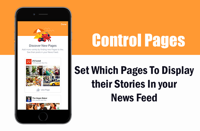 Control the pages you like and select only those pages who you like to display in news feed.