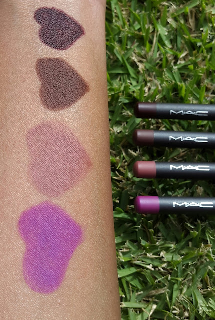 M.A.C Lip Pencils swatches www.modenmakeup.com