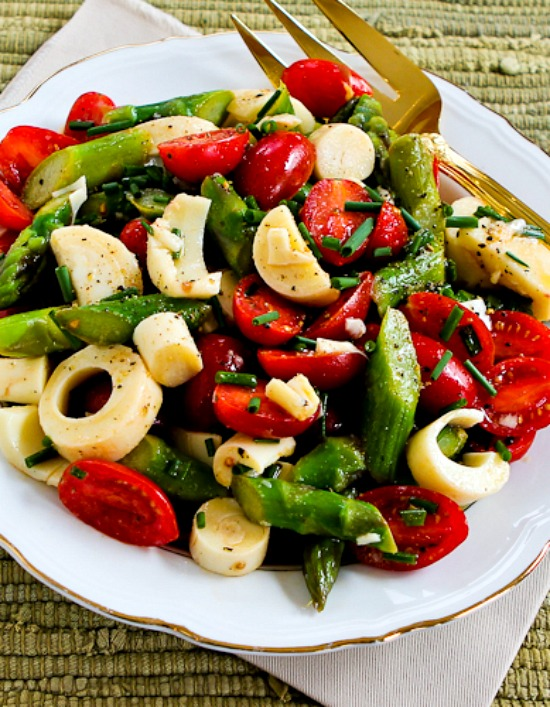Vegan Asparagus Salad for Spring with Tomatoes, Hearts of Palm, and ...