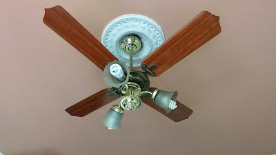 Resultado de imagem para foto de um ventilador de teto em um Florão de gesso