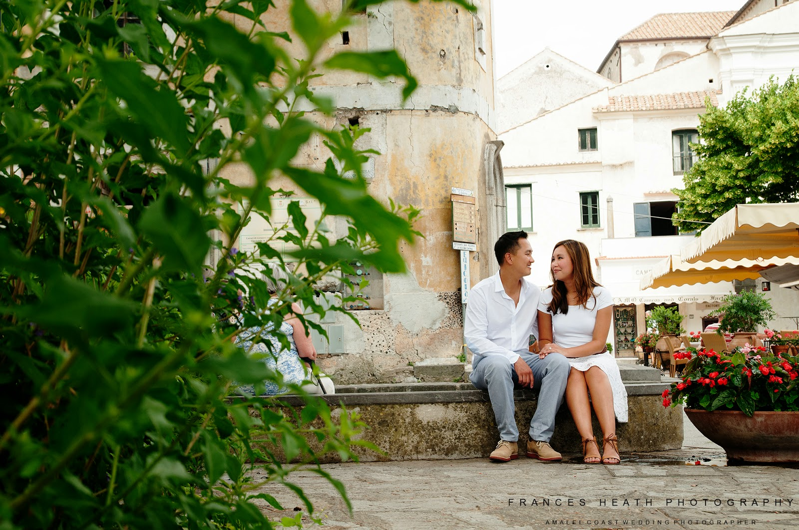 Engagement photo in Ravello