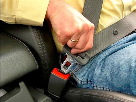 wearing a seat belt