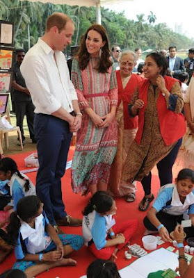 Photographs: Prince William and Kate Middleton play cricket and go to Bollywood supper amid India visit