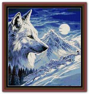 """Wolf Tapestry"" Witchykitt Designs"