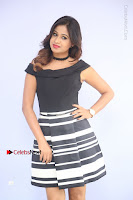 Actress Mi Rathod Pos Black Short Dress at Howrah Bridge Movie Press Meet  0044.JPG