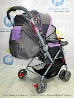 Kereta Bayi Pliko PK288 Monaco Hadap Depan-Belakang Purple