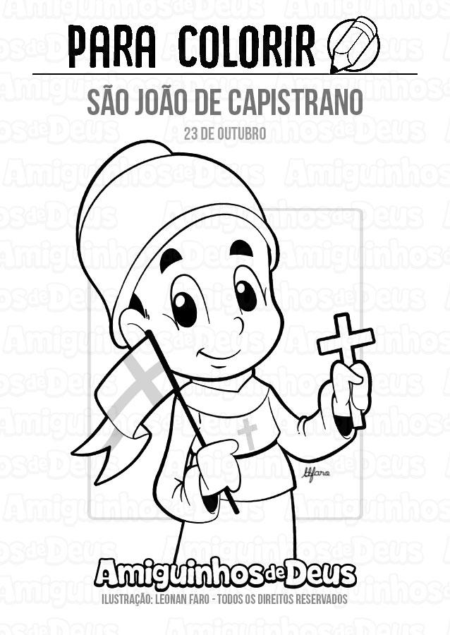 São João de Capistrano desenho para colorir