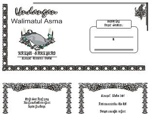Contoh Undangan Walimatul Asma CDR | Download Undangan Walimatul Tasmiyah Gratis