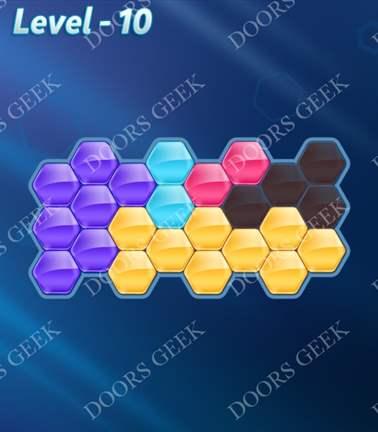 Block! Hexa Puzzle [5 Mania] Level 10 Solution, Cheats, Walkthrough for android, iphone, ipad, ipod