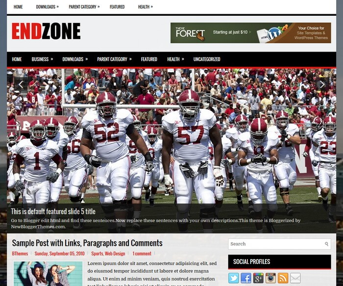 blogger subject amongst a correct sidebar in addition to  Free Download EndZone