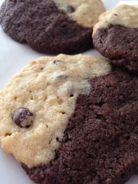 Erdnussbutter-Schoko-Cookies….