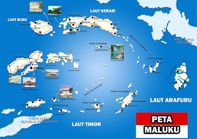 Gambar Peta Provinsi Maluku Lengkap 9 Kabupaten 2 Kota