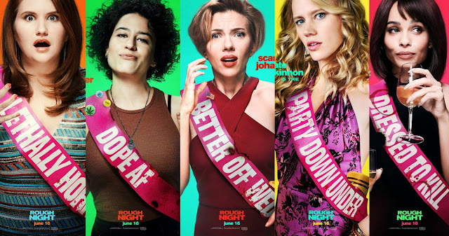 CINE ΣΕΡΡΕΣ, Rough Night (2017), Scarlett Johansson, Kate McKinnon, Zoë Kravitz, Lucia Aniello,