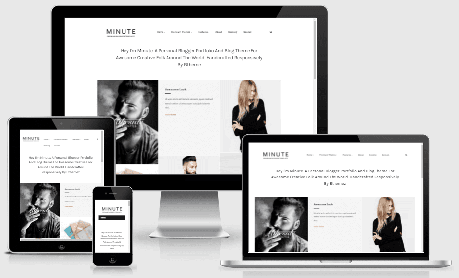 Minute - Responsive Creative Blogger Template