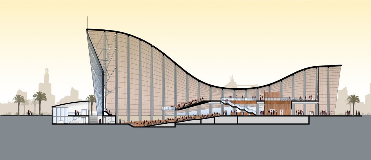 Architecture Section Diagram 4 Wire Trailer World Of Brand New Church Building For Lagos Nigeria Showing Modern From The Side