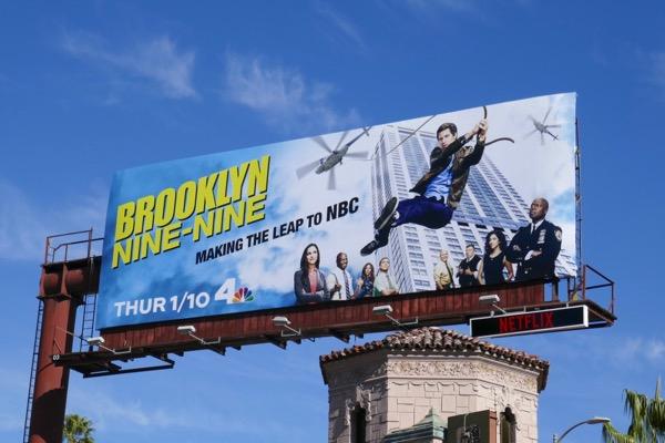 Brooklyn Nine Nine season 6 NBC billboard