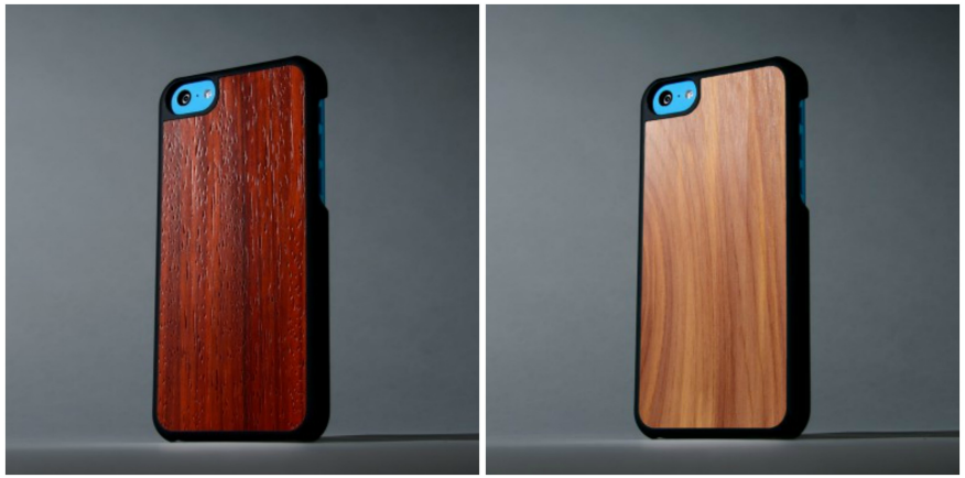 Carved iPhone cases made from real wood