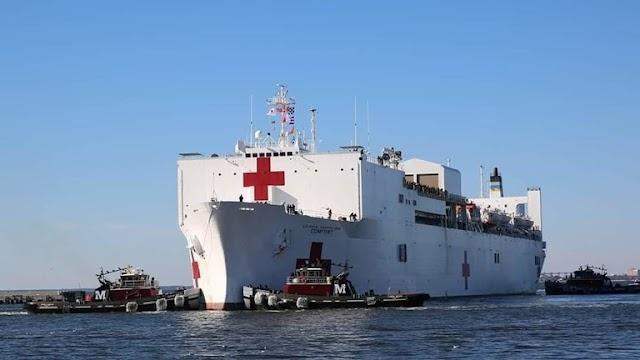 أمريكا ترسل مشفى حربيا بحريا