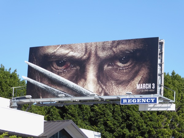 Logan movie special extension billboard