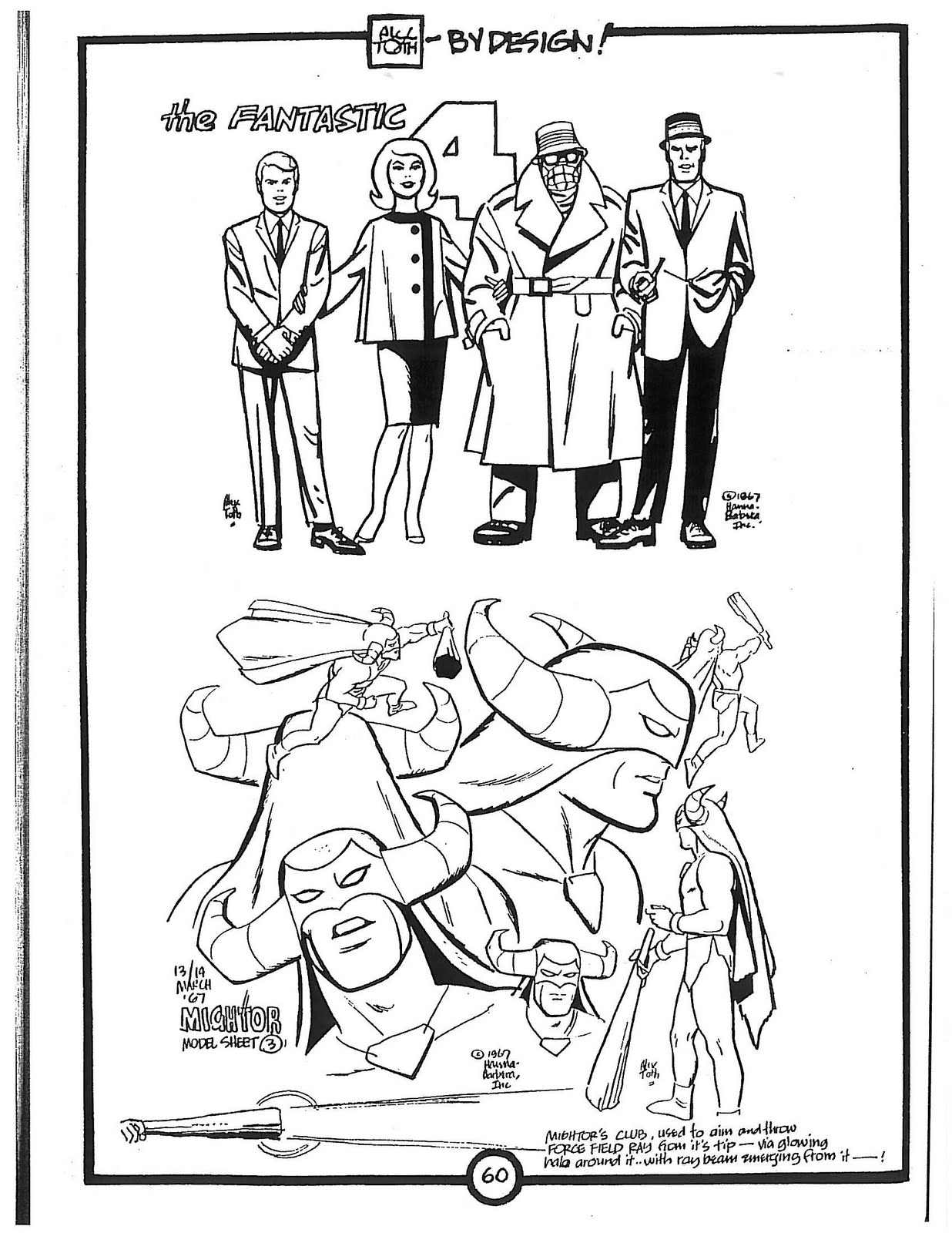 Cartoon Concept Design Alex Toth Model Sheets