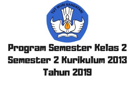 Program Semester Kelas 2 Semester 2 Kurikulum 2013 Tahun 2019