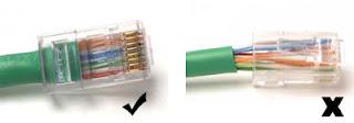 pemasangan kabel straight dan cross yang benar