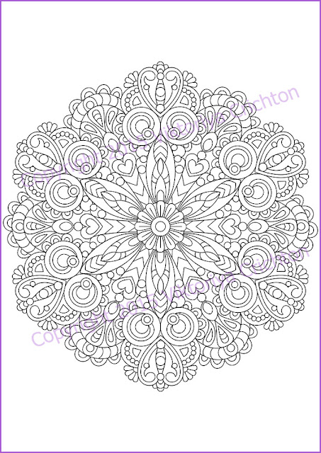 Coloring-page-adult-and-children-mandala