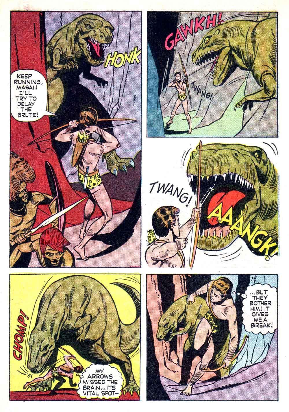 Korak Son of Tarzan v1 #11 gold key silver age 1960s comic book page art by Russ Manning