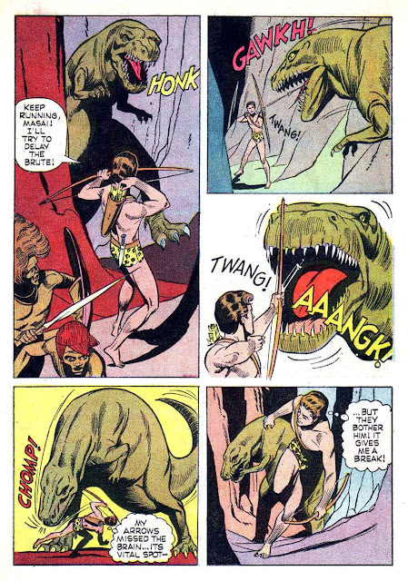 Korak Son of Tarzan v1 #11 gold key silver age 1960s comic book page art by Russ Manning