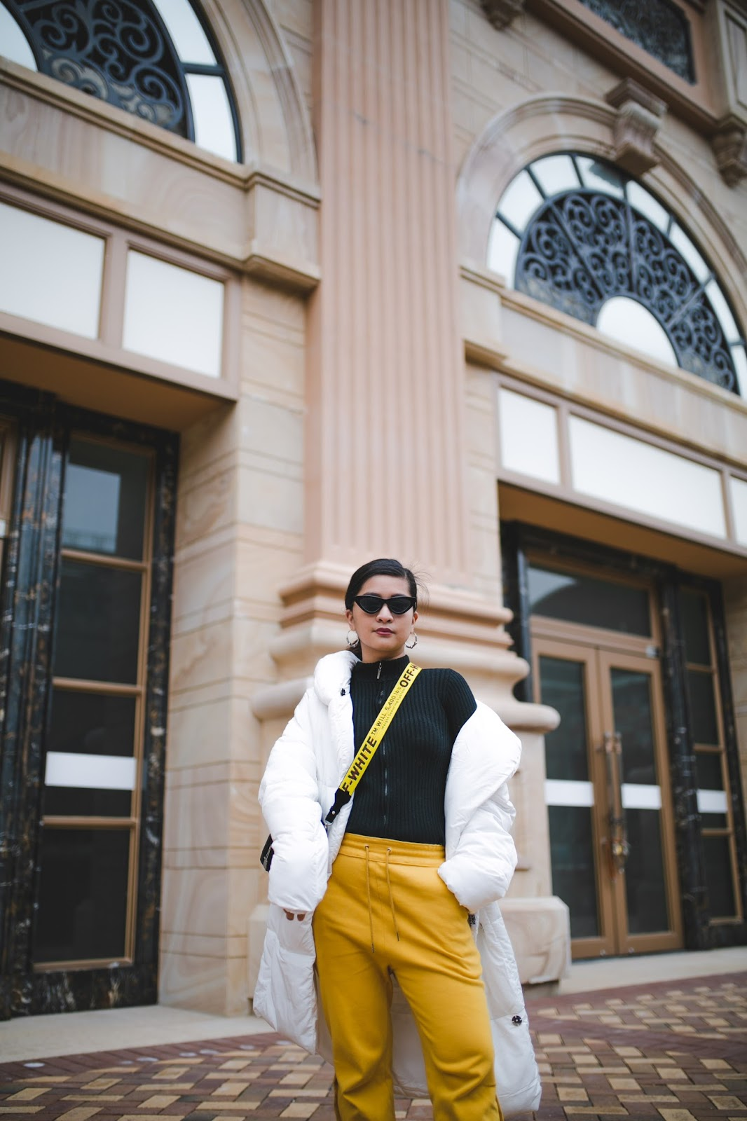 Macau fashion blogger Styling a Puffer Coat