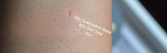 Immagine dello Swatch Eye Shadow Base Primer Occhi in 03 Skin Tone di Nyx Cosmetics