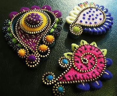Κοσμήματα απο τσόχα