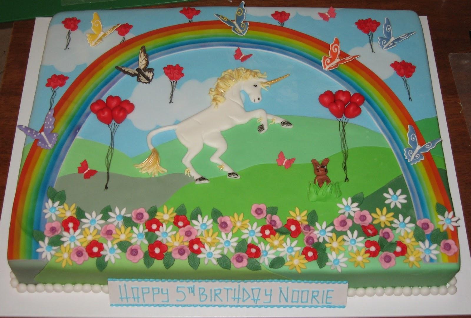 Let Them Eat Cake Rainbow And Unicorn