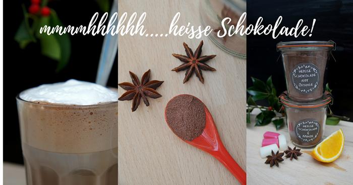 heisse Schokolade selbst gemacht mit Orange oder Minze rezept