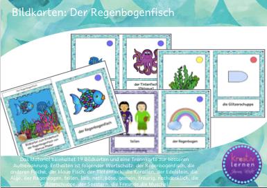 Kinderbücher im DaF / DaZ Unterricht. Lesen und Sprache fördern mit Bildkarten und Kinderbüchern wie der Regenbogenfisch