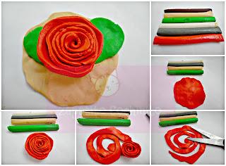 Resultat d'imatges de roses de plastilina