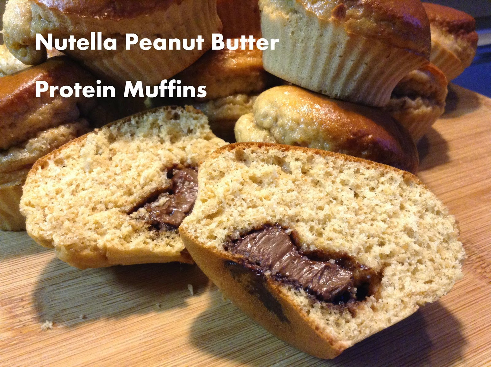 Bruises and Calluses: Nutella Peanut Butter Protein Muffins