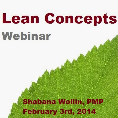 Introduction to Lean Concepts by Shabana Wollin, PMP