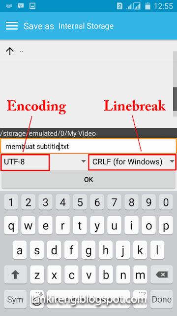 Encoding UTF-8 dan Linebreak CRLF