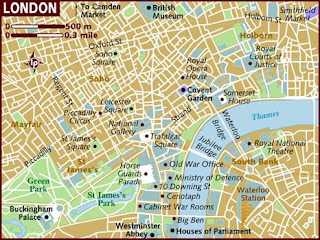 Map Of London Attractions And Hotels.London Tourism Visit London London Map London Hotels London