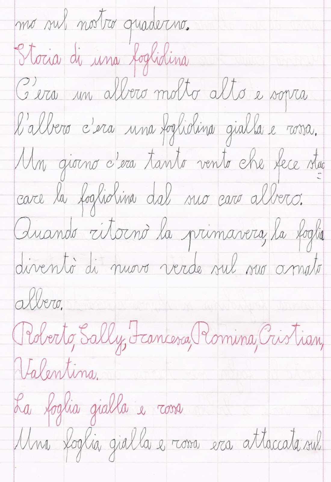Seconda Classe Lingua Italiana Poesie Autunno School