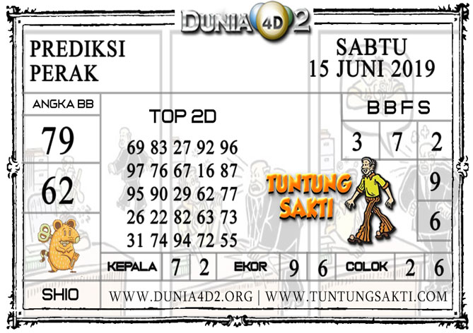 """Prediksi Togel """"PERAK"""" DUNIA4D2 15 JUNI 2019"""