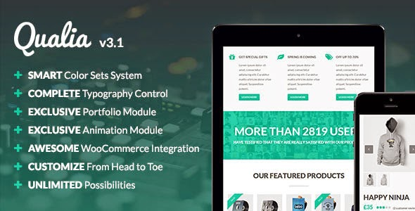 Qualia V3.1 Themeforest Flexible Multi-Purpose WordPress Theme
