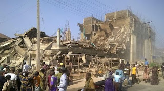 ABEOKUTA: Shopping Mall In Abeokuta Collapses Under Construction As Many Feared Dead